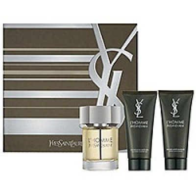 YSL L'Homme set(60ml+50 a/sh+50 g/d)
