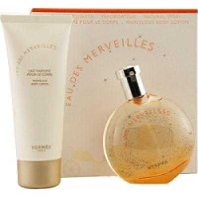 Hermes Eua Des Merveilles set(50ml+50body cream)